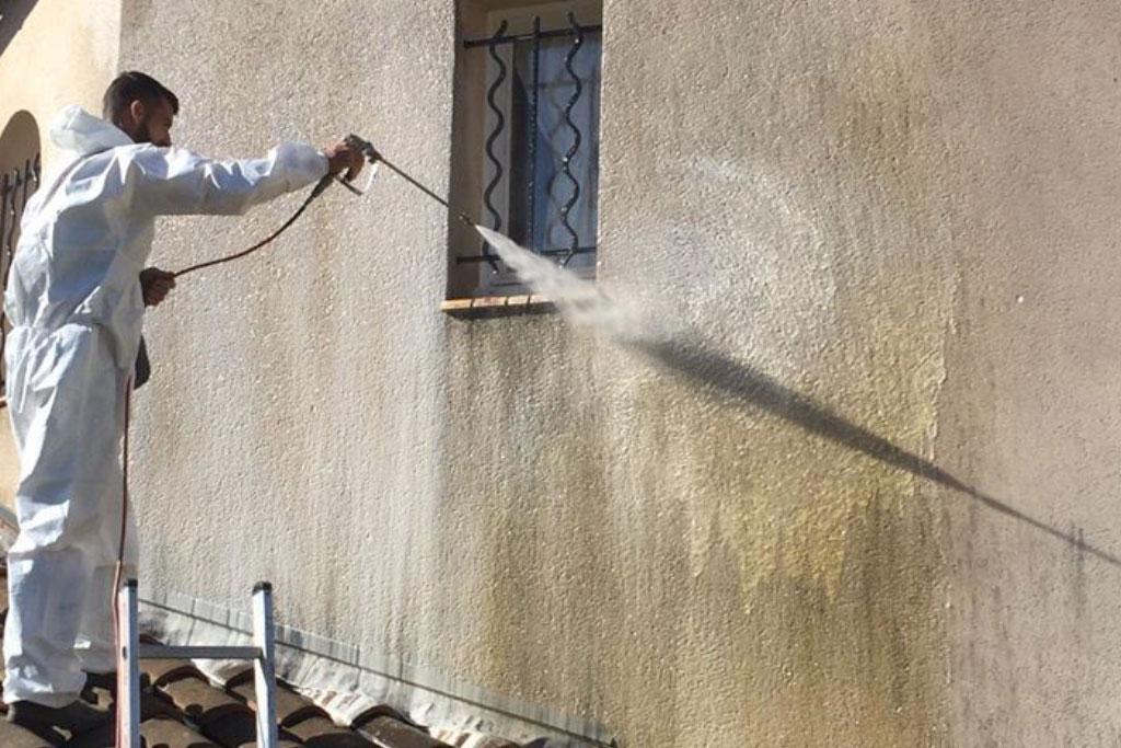 Nettoyage façades haute pression